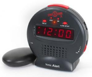Sonic Bomb Jr. Alarm Clock with Bed Shaker